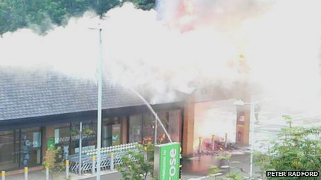 Waitrose fire, Wellington, Sunday, 21 July