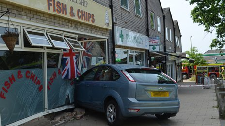 Fish and chip shop crash