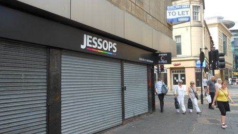 Closed Jessops store