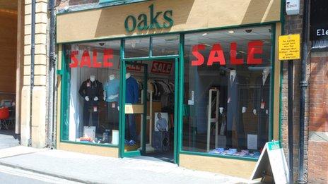 Oaks menswear, former Jessops store