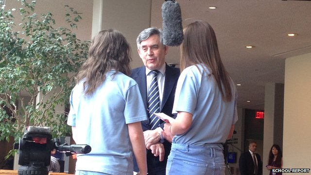 Holly and Lauren meet Gordon Brown