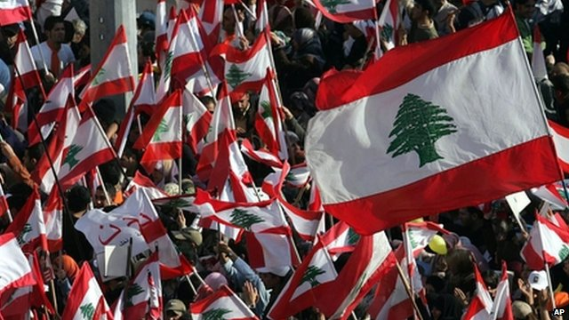 Lebanese flags - file photo