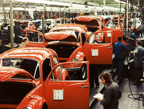 VW Beetle production in 1973