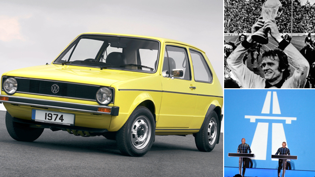 A 1974 Golf, German footballer lifts the World Cup and Kraftwerk recreate 1974's Autobahn