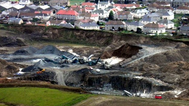 A quarry next door to housing