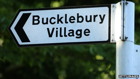 Bucklebury Village sign