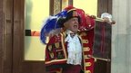 Town crier announces royal baby news