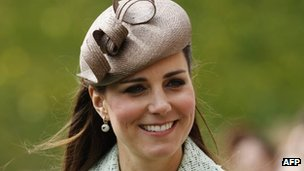 Duchess of Cambridge. File pic dated 21 April 2013