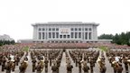 Soldiers march to celebrate the 60th anniversary marking the end of the 1950-53 Korean War, in Pyongyang 22 July 2013, in this photo released by North Korea's Korean Central News Agency (KCNA)