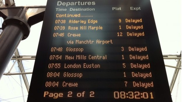Delays at Manchester Piccadilly
