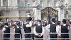 Police officers outside Buckingham Palace