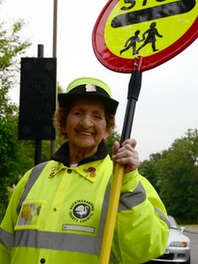 Lollipop lady Beryl Newton