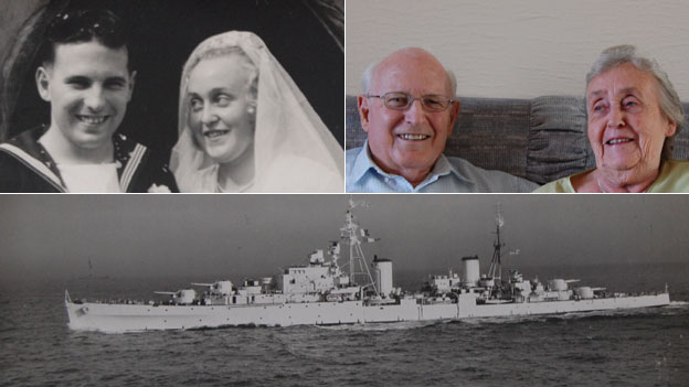 Ken and Betty Jennings and HMS Kenya