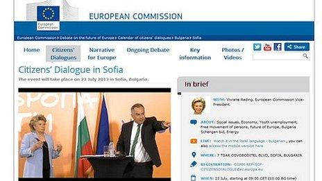 EU Commission Citizens' Dialogue website