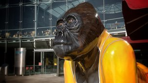 Freddie Radio Go Go Gorilla after being repainted