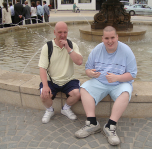Mark Neary and his autistic son Steven