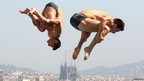 Divers compete in the 15th FINA World Championships in Barcelona