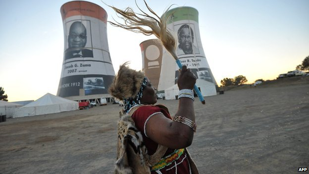 A traditional healer in Bloemfontein, South Africa, on 7 January 2012