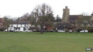 Village green in Kent