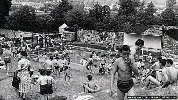 Cleveland Pools in Bath, in 1960