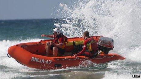 Perranporth inshore rescue boat