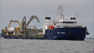 Team Oman, cable repair ship off Guernsey