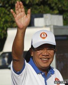 Hun Sun campaigning in Cambodia
