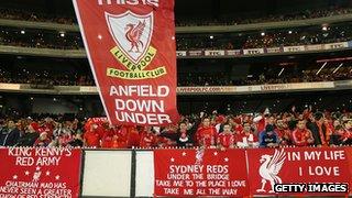Liverpool fans in Australia