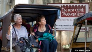 Dame Judi Dench and Celia Imrie in The Best Exotic Marigold Hotel