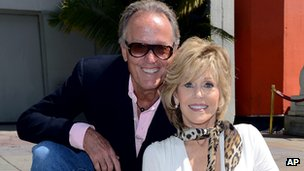 Peter Fonda with sister Jane