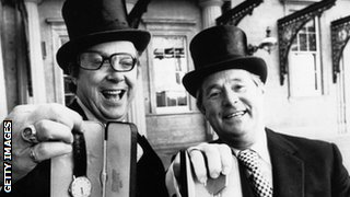 Comedians Eric Morecambe and Ernie Wise