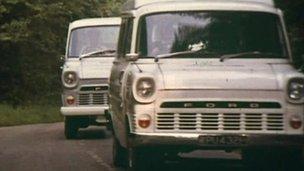 Ford Transit van 1970s promotional video