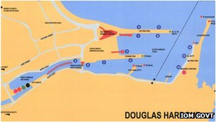 Map of Douglas Harbour, Isle of Man