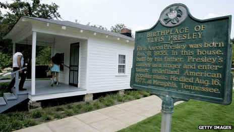 Elvis's birthplace in Tupelo, Mississippi