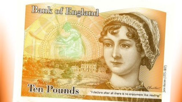 jane austen on pound note