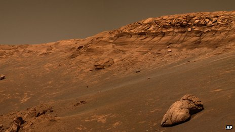 An image taken by the Mars rover Opportunity