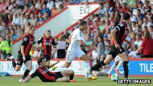 Cristiano Ronaldo takes on the Bournemouth team on 21 July 2013