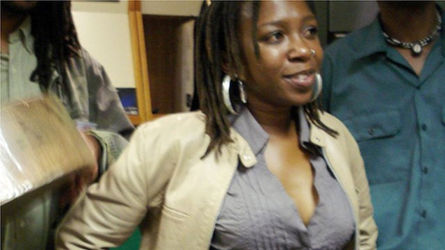 Chiwoniso Maraire at the BBC studios in Bush House, London in 2008