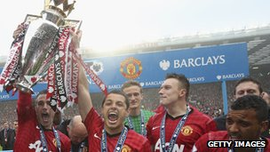 Premier league champions Manchester United