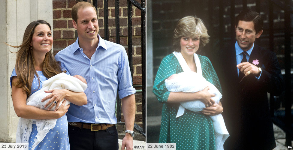 Duke and Duchess of Cambridge leave hospital with their new son