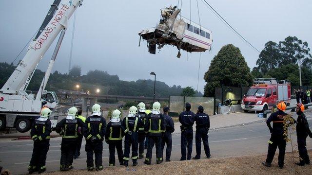 A wagon of a crashed train