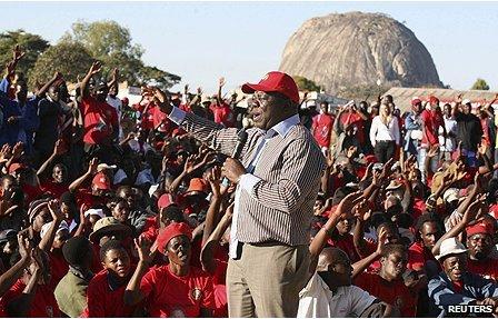 Zimbabwean presidential candidate Morgan Tsvangirai