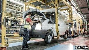 Ford Transit van production at Swaythling