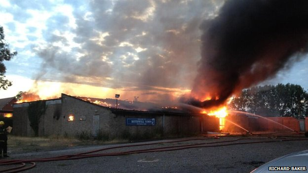 Fire at Rothwell Town FC