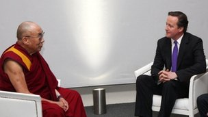 David Cameron and Dalai Lama