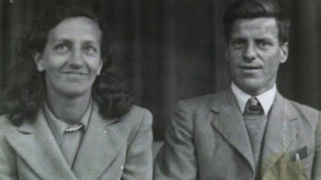 Dulcie and Bill Joslin on their wedding day in 1943