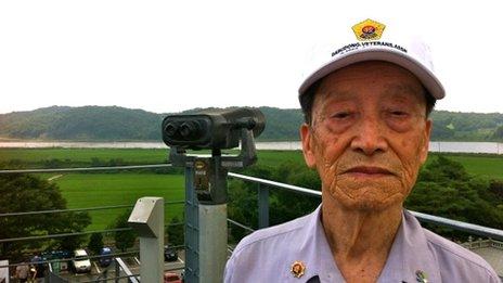Lee Duk-bin revisiting the site of his first Korean War battle