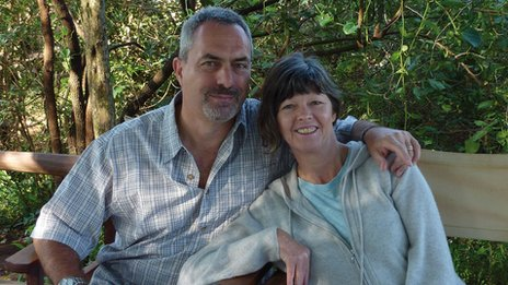 Judith Tebbutt and her husband David on holiday in Kenya shortly before the kidnapping