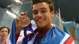 Tom Daley with his Olympic medal