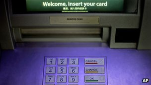 Cashpoint machine